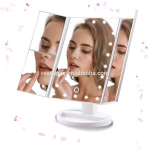 Sales are best in 2018 led desktop mirror Makeup with a 10X magnifying glass folding led mirror LED vanity mirror