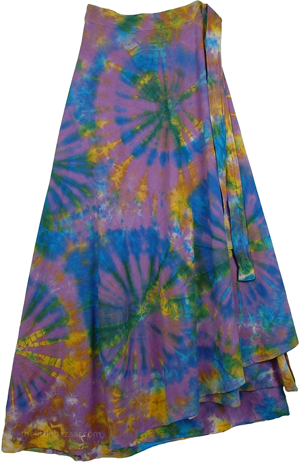 TLB - Pacifika Wrap Tie Dye Boho Long Skirt