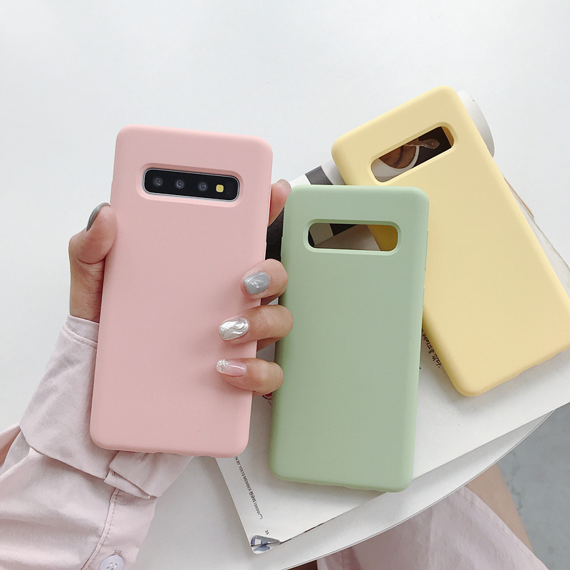 2019 Fashional Phone Covers For Galaxy S10 Liquid Silicone Case Elastic Rubber Cell Phone Case For Samsung