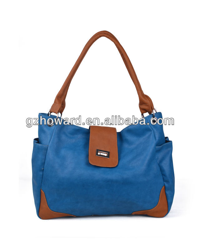 fashion designer blue leisure leather lady handbag leather bags mexico