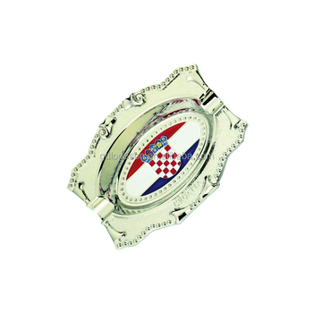 Zhongshan Factory Supplier Croatia Souvenirs Country Flag Foil Paper Custom Ashtray Tobacco Tray