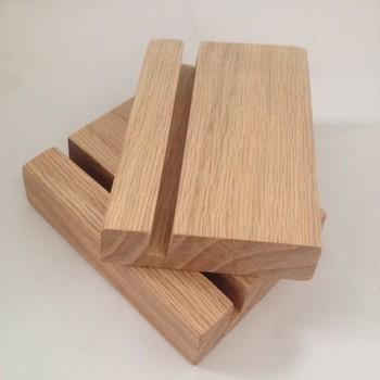 oak wood block desk calendar stand natural wood paper stand display