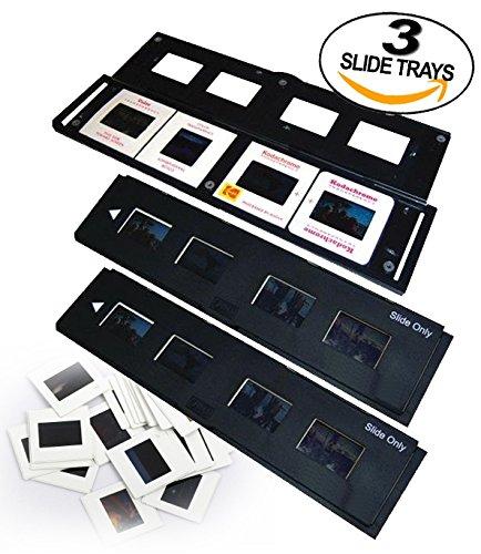 Slide Trays Set of 3 - Fits most zonoz, Wolverine Data, Jumbl, Magnasonic, Digitnow, SainSonic, ClearClick 35mm Slide Scanners