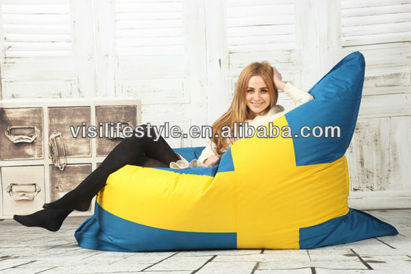 fashionable flag giant bean bag bed big pillow outdoor waterproof lounger