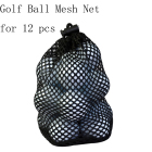 Simple Portable Nylon Mesh Net Bag for Golf Ball Golf Tennis 12 Balls Holder Pouch