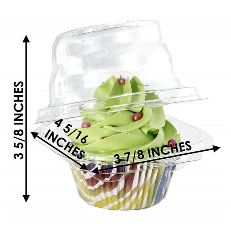 Hot sale clamshell plastic individual cupcake holder box