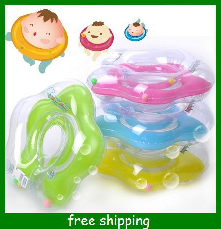 New Baby Kids Infant Adjustable Swimming Neck Float Ring Safety Aid Tube mix color sizes 0
