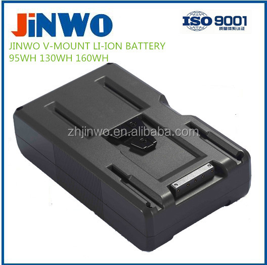 130WH V-Lock Battery Mount Li-ion Rechargeable Battery for Camera, LED Light, Monitor Broadcasting Video Camera Battery