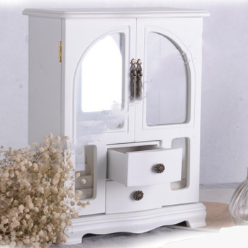 Whole China Manufacturer Custom White Wood Jewelry Box Wooden Gift Packaging Storage Cabinet Large Tall