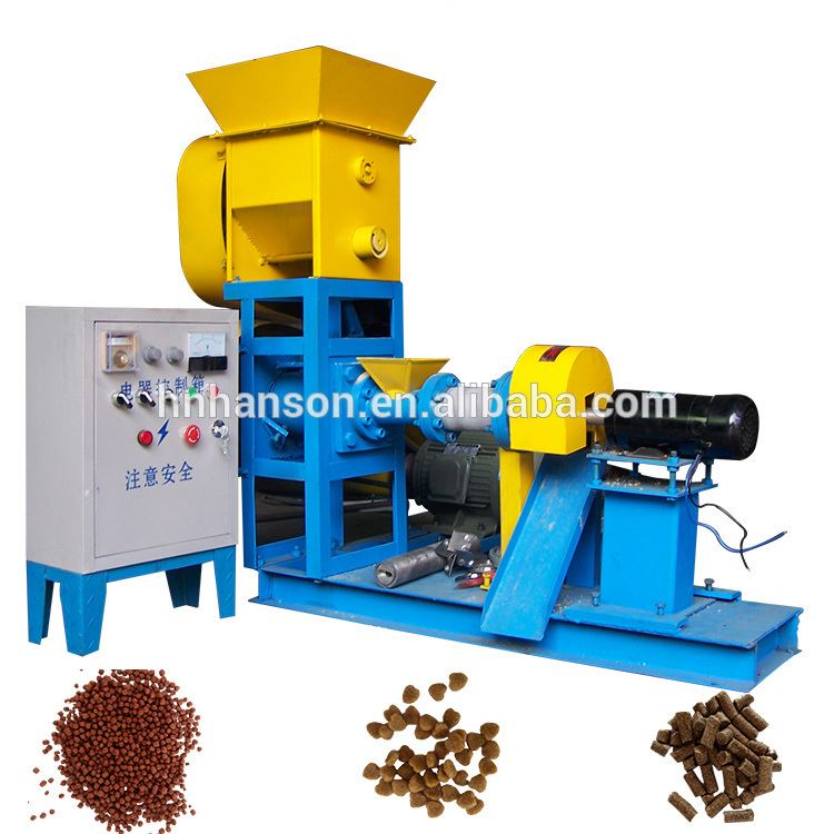 Hot Selling Dry Type Fish Feed Extruder Machine Hammer Fish Food Feed Extruder