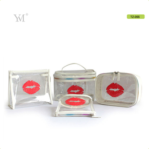 portable travel makeup bag cases bulk women handbag custom transparent clear pvc cosmetic bag