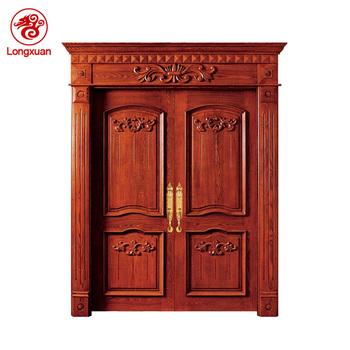 Wholesale Indian House Main Gate Double Solid Teak Wood Front Door ...