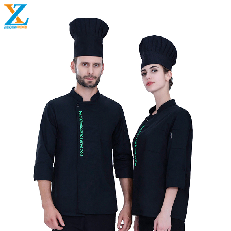 High Quality Wholesale Breathable Comfortable polycotton Chef Aprons With a leather belt
