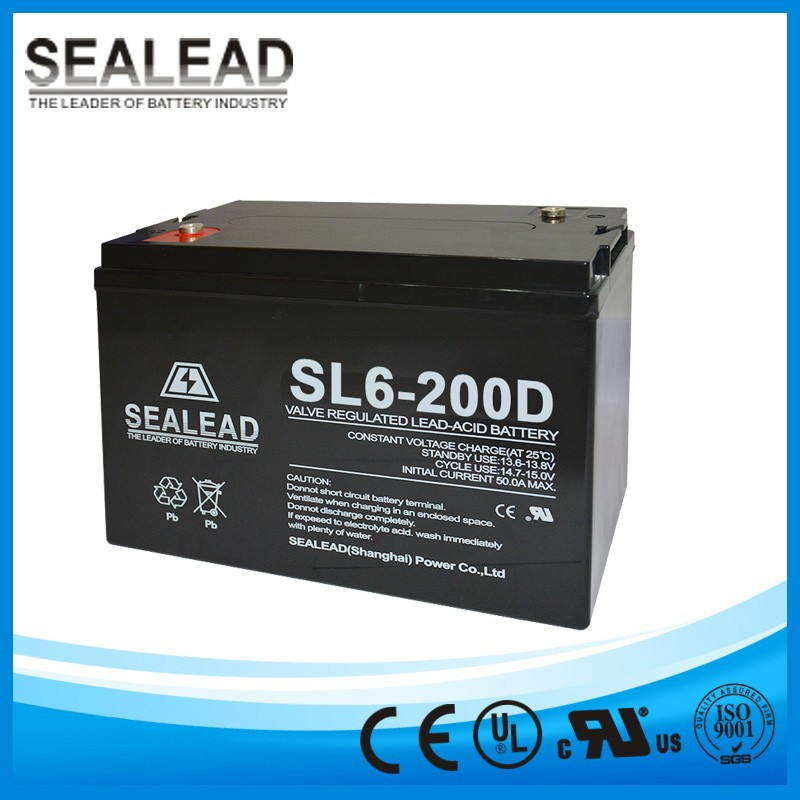 electric vehicle application batteries series DC system 6v 200ah deep cycle flat plate MF battery for golf