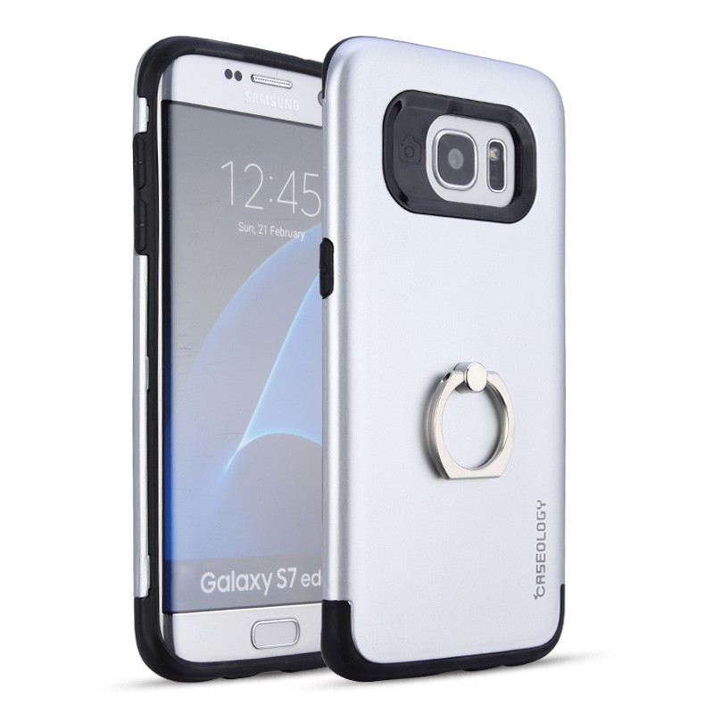 New arrival tpu pc with 360 rotating metal ring holder phone case for Samsung Galaxy S8 edge
