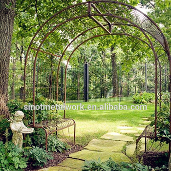Wrought Iron Rose Arch Metal Garden Flower Gated Decorated With Gate Product On