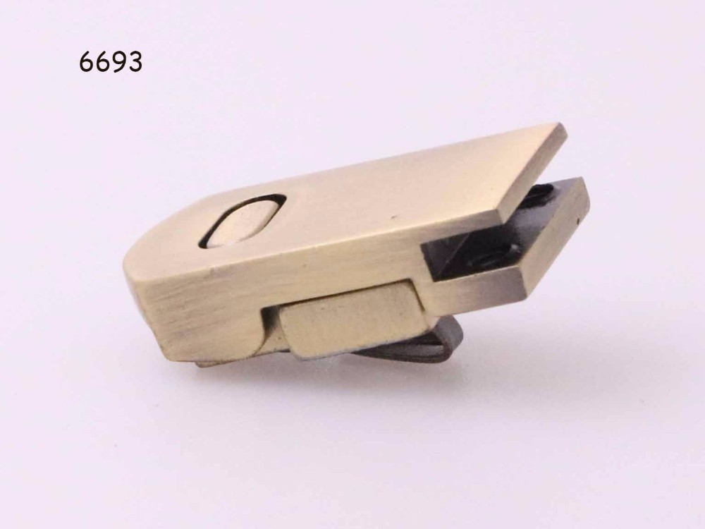 Factory Best Selling Small Shiny Gold /Nickel Magnetic Bag Lock