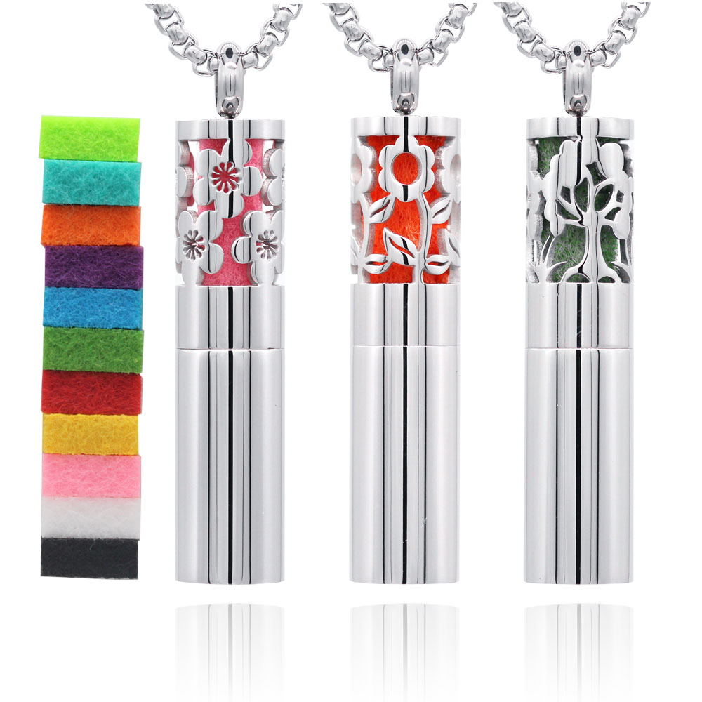 Fashion Surgical Grade 316L Stainless Steel Essential Oil Diffuser Necklace