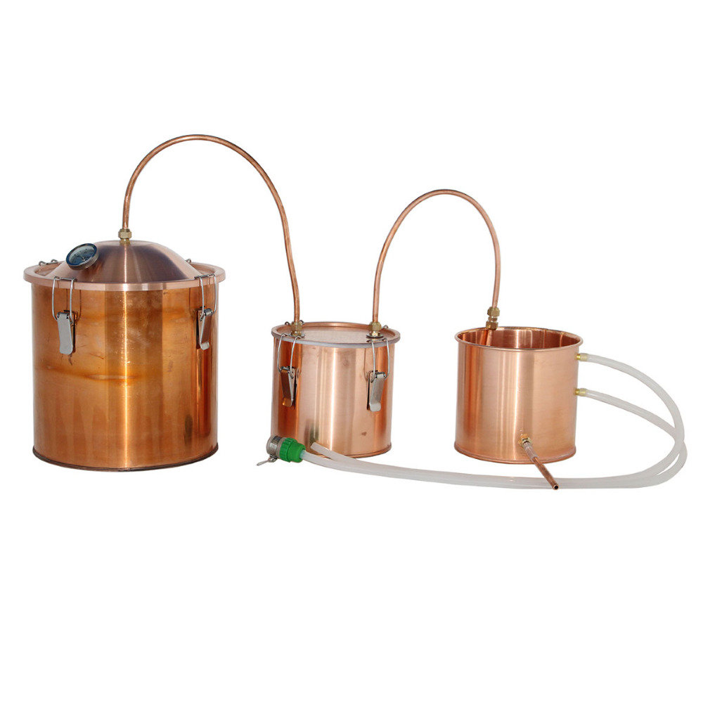 High quality copper distiller alcohol home distilling equipment with thump keg