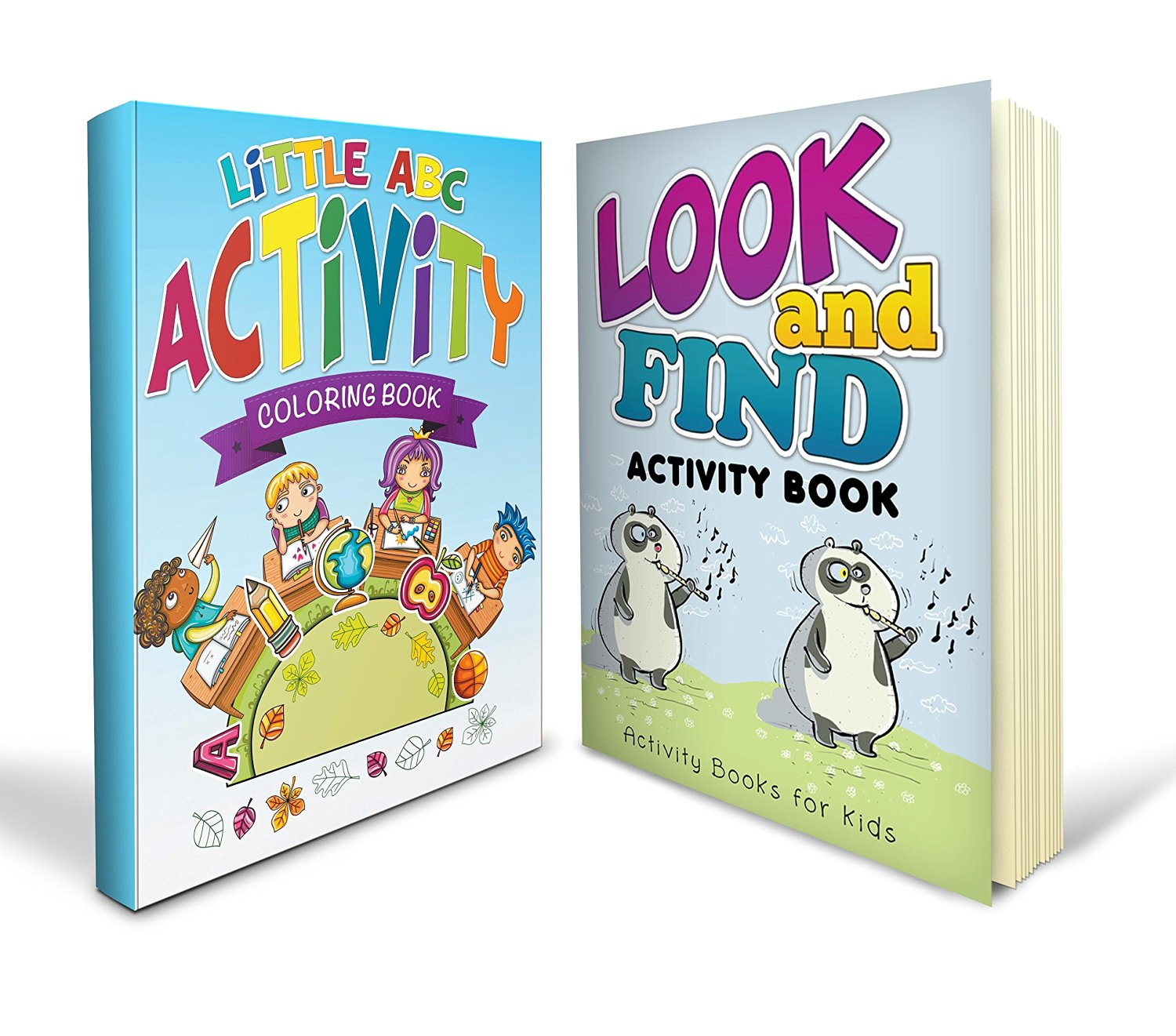 Activity Books For Toddlers Bundle with a Little ABC Activity Coloring Book and Look and Find Book with over 100 Alphabet and Seek and Find Learning Pages Absolutely Mom Approved