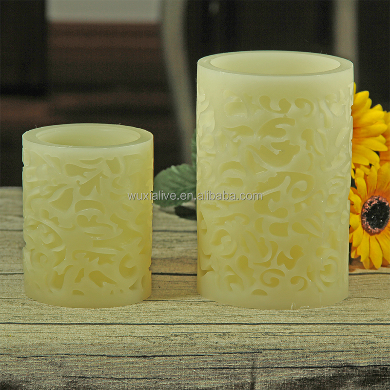 decorative hand carved candles