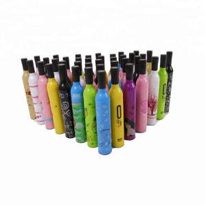 Chinese umbrellas wholesale Custom windproof Print OEM bottle Umbrella With Logo