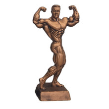 Male bodybuilding trophy statue for world association federation competition