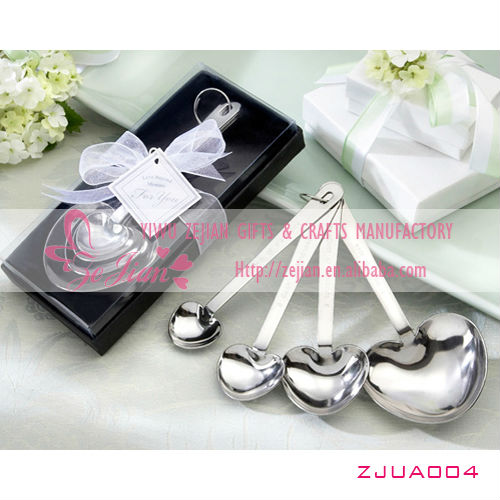 """Love Beyond Measure"" Wedding Heart Shaped Measuring Spoons"