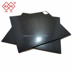 best price 1mm black rubber nylon sheets / nylon thin sheets with insertion
