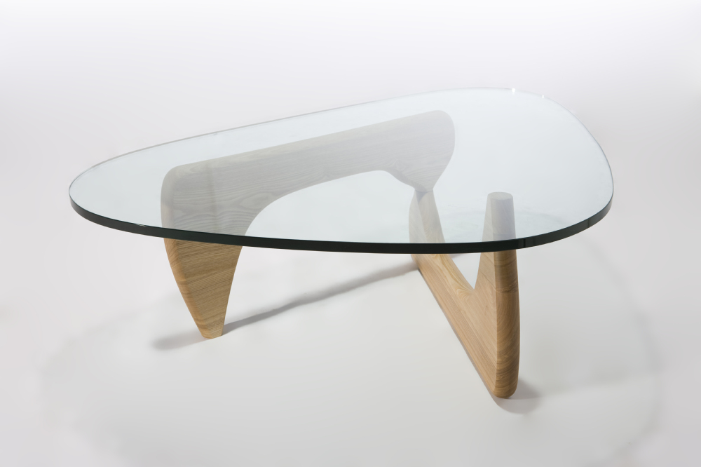 Simple Fashion 3 Legs Glass Top Center Table Design Living Room
