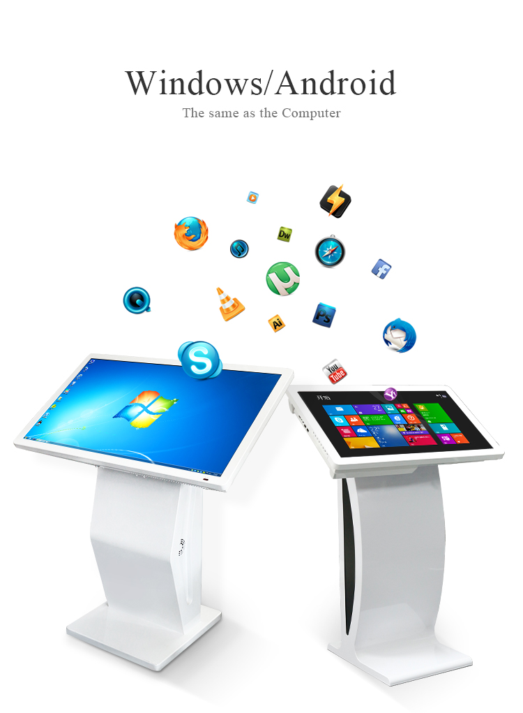 "43 ""Berdiri Bebas Android Multi Touch Screen Kios Interaktif Harga"