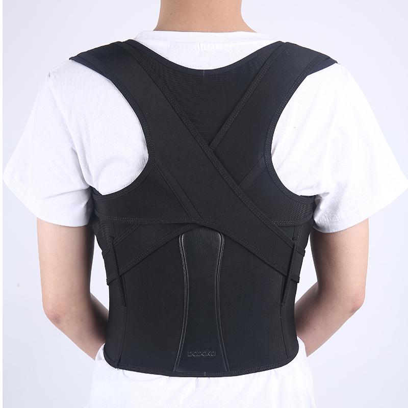 Best Neoprene Adjustable Lumbar Upper Posture Corrector Back Support Belt Vest Brace, Black