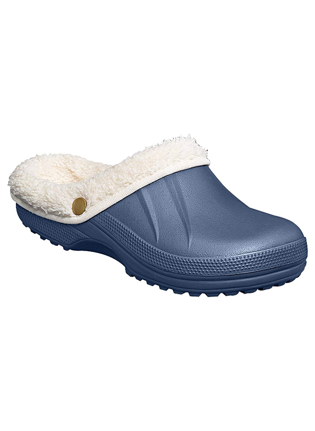 101 BEACH Toddler Slip On Solid Fleece Lined Clogs