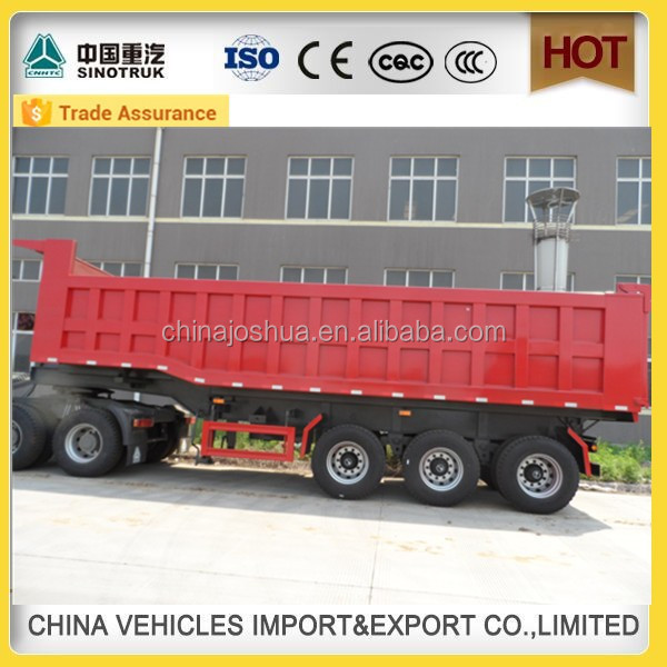 Hot koop! grote fabriek china fabrikant dump lage bed trailer export ghana in china