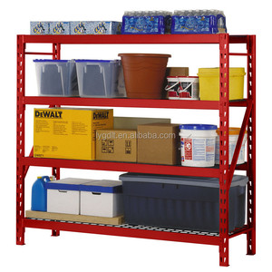 4 Level Welded Storage Rack with Adjustable Wire Shelves