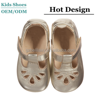 365fc8a2eda8 J-B0292 Cute mary jane Baby Shoes Summer Sandals Girls Gold Leather First- Walker