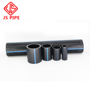 Flexible black ISO 4427 HDPE water supply pipes , pe100 tube for water