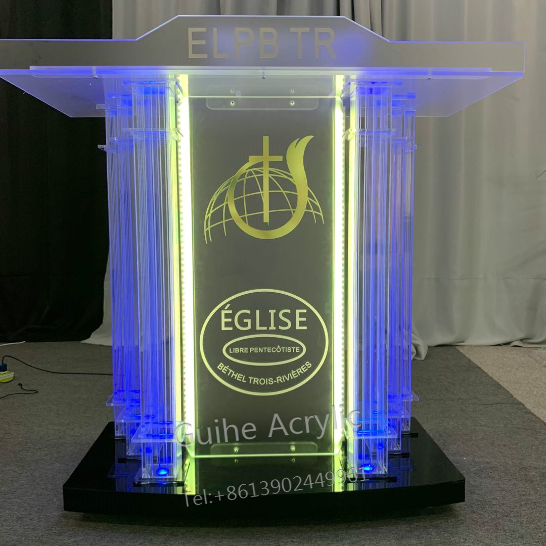Modern Pulpit, Church, Christian Church, Acrylic, With Lights