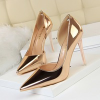 China factory wholesale price plus size customized small MOQ Pu upper 10.5cm platform shoes high heels heels high