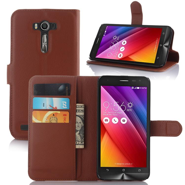 finest selection 3c8d8 2176e Litchi Pu Card Holder Wallet Flip Leather Case For Asus Zenfone 2 Laser  Ze550kl - Buy Leather Case For Asus Zenfone 2 Laser Ze550kl,Wallet Leather  ...