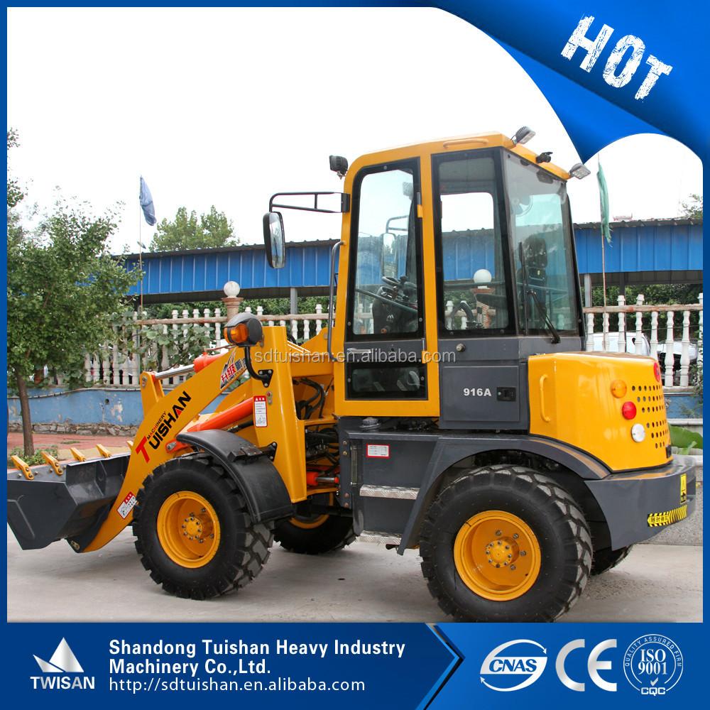 ZLY916A 1200kg wheel loader for sale articulated hydraulic transmission 4WD diesel engine