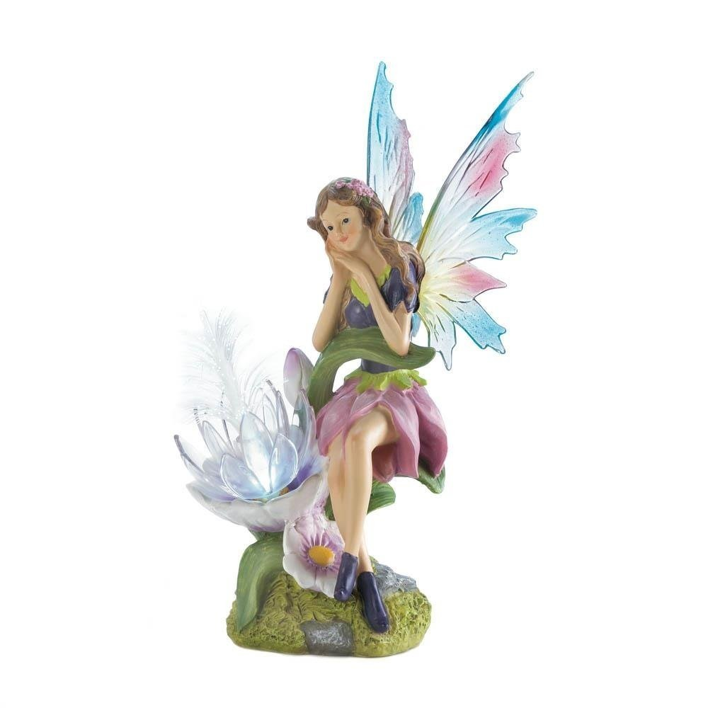 Summerfield Terrace Solar Statue, Fairy Figurines Garden Fairies Outdoor Solar Statues
