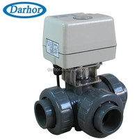 3 way electric corrosion resistant upvc ball valve