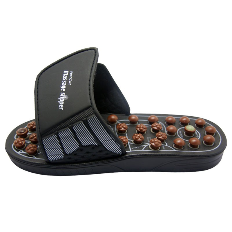 Cheap Price Spring Magnet Rotatable Kneading Browm/Black Massage Slippers Chinese Suppliers