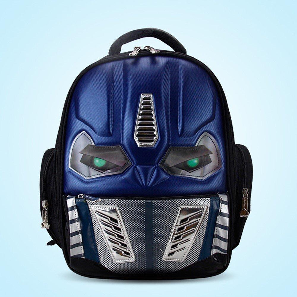 0e420d4c4a Get Quotations · LED Flashing Light New 3D Robot SchoolBag Cool EVA Cartoon  School Bags Boys Kid Backpack