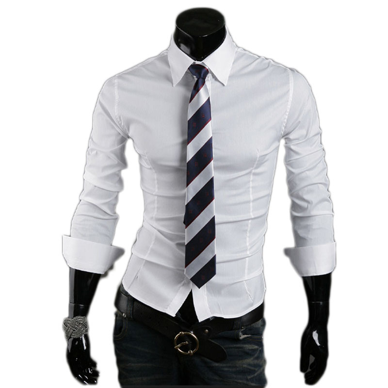 Fashion Slim Fit Men Shirt 2015 Hot Mens designer Casual Shirts  Long Sleeve Dress shirts Chemises Homme Plus size M-XXL