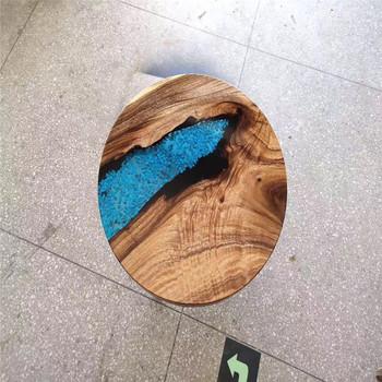 Bricolage Epoxy Riviere Table Avec Cascade Resine Epoxy Pour