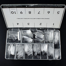 500 stücke Transparent Acryl Falsche Nagel-kunst-spitzen Salon Display-Tools Set Neue