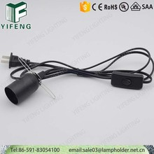 e26 plastic lamp holder with clasp power cord set inline 303/dimmer switch