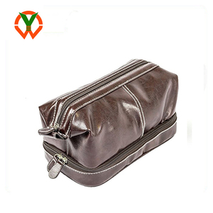Wholesale Vegan Leather Waterproof Toiletry Bag For Travel Organizer